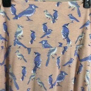 LulaRoe blue bird maxi skirt - XL